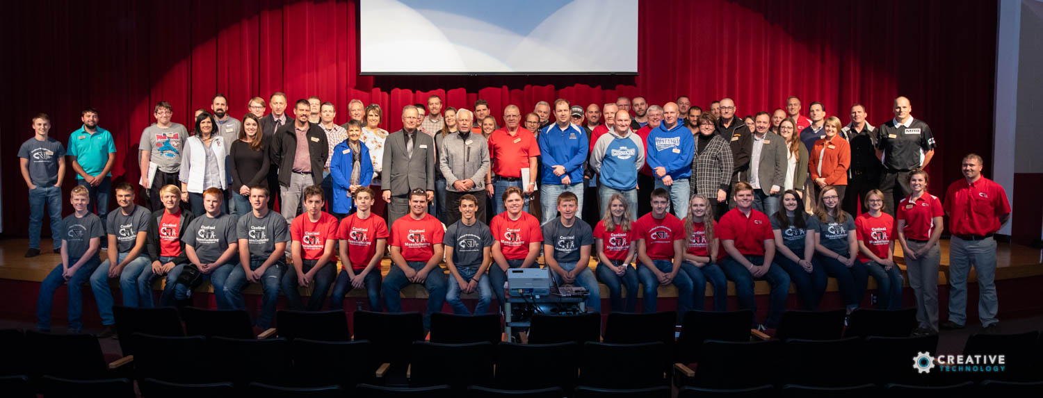 October 2018 Cardinal Manufacturing Tour group with students